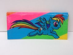 My Little Pony Rainbow Dash Duct Tape Wallet by BlindCyclops