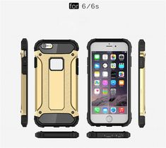 Shell For iPhone 6 Plus iPhone Plus Case Shockproof Hard PC Plastic Cover Rubber Armor Phone Cases For Apple iPhone 6 Plus Hard Phone Cases, Iphone 6 Cases, Iphone 5s, Apple Iphone 6, Smartwatch, Apple Technology, Shell, 6s Plus Case, Layers Design