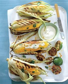 Grilled Corn on the Cob with Chile and Lime via Bon Appetit