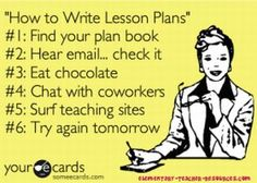 """How to Write Lesson Plans""  LOL!"