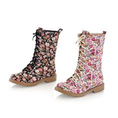 Autumn Winter keep warm canvas boots, cow muscle,women's fashion printed flowers boots,-in Boots from Shoes on Aliexpress.com $22.62