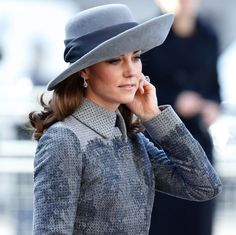 The royal looked stunning in a $4,740 Erdem coat and topped off the look with a matching wide-brimmed hat by John Boyd, a 90-year-old milliner who was known for designing toppers worn by Kate's late mother-in-law Princess Diana.