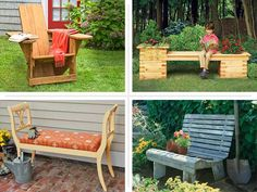 Create a perch—or several—for admiring your landscaping handiwork! Here are 12 outdoor seats to improve your yard appeal and increase your capacity for entertaining.