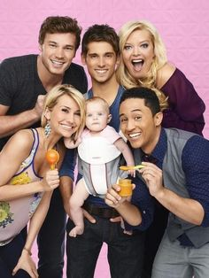 BABY DADDY Ben becomes a surprise dad to a baby girl when she's left on his doorstep by an ex-girlfriend. Ben decides to raise the baby with the help of his mother, his brother Danny, his friend Tucker and Riley the girl who is harboring a secret crush on him. Light and very funny comedy!