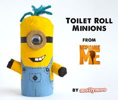Toilet Roll Minions.... from #DespicableMe #kidscrafts #craftsforkids