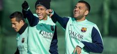 Neymar y Alves | Neymar y Cristiano se quedarían huérfanos sin Coentrao y Dani Alves.