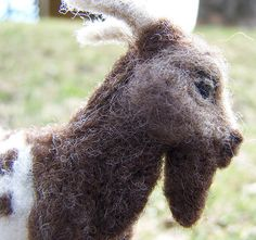 Needle Felted Pygmy Goat by emeyer1044, via Flickr