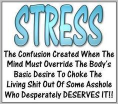 Stress~ Oh yeah. The weekends. Always the weekends, when I should be enjoying myself. I get that call... From that asshole with fingers.