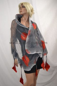 Avenue of the Arts - Agnieszka Arciszewska  Art studio clothing - nuno felting  www.AlejaSztuki.com    We create with passion, nuno felt artistic silk scarves and clothing made from natural fabrics (cashmere, silk, linen, wool of merino, etc.) Everything is handmade in unique design.  Our silk scarves are different from the typical stiff felt scarves because they are made from the highest quality merino wool and genuine 100% silk, these two materials combine in the hands respectively. When…