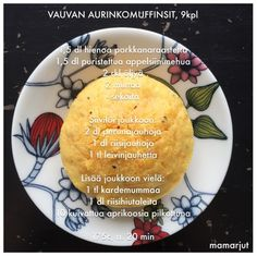 Simppeli sormiruokakeittiö: Vauvan aurinkomuffinsit Snowflakes Art, Ecology Design, 20 Min, Social Platform, Kids And Parenting, Baby Food Recipes, Babys, Recipes For Babies, Food Food