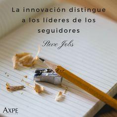 """Seve Jobs: """"La innovación distingue a los líderes de los seguidores"""".  #Innovación #Tecnología #Citas #FrasesCélebres #SteveJobs"""