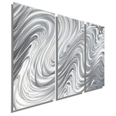 Abstract Metal Wall Sculpture in Silver, Decorative Metal Wall Art, Contemporary…