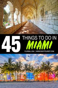 Wondering what to do in Miami, FL? This travel guide will show you the top attractions, best activities, places to visit & fun things to do in Miami, Florida. Start planning your itinerary & bucket list now! #Miami #MiamiFL #MiamiFlorida #florida #floridavacation #floridatravel #floridatrip #usatravel #usaroadtrip #usatrip #travelusa #ustravel #ustraveldestinations #americatravel #travelamerica #vacationusa Florida City, Florida Vacation, Florida Travel, Vacation Trips, Vacation Spots, Usa Travel Guide, Travel Usa, Canada Travel, Travel Guides