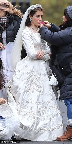 What a dress: The no-expense-spared new period drama - which follows the royal family from...