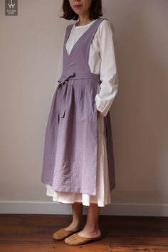 Vintage Outfits, Classy Outfits, Vintage Dresses, Retro Fashion, Boho Fashion, Vintage Fashion, Fashion Outfits, Country Style Outfits, Linen Apron