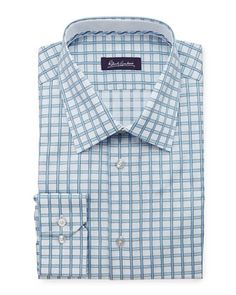 Robert Graham Levi Check Dress Shirt, Sky - Neiman Marcus Last Call (78)
