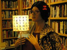 bookstore mannequin by atomicpopmonkey, via Flickr