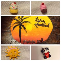 DIY Polymer clay. Coco is amazing. Tao panda, sun, and cupcakes