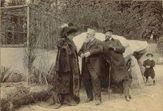 Auguste Rodin (centro) e Eleonora Duse, 22 Abril de 1905