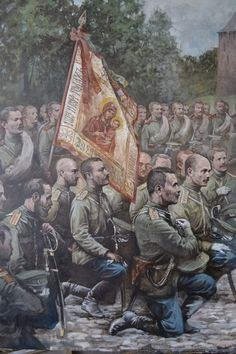 Vyborg Infantry Regiment in Novgorod before going to the Far East, during the Russo-Japanese War Military Art, Military History, Ww1 Battles, Imperial Army, Imperial Russia, Ww1 Art, Church Icon, Civil War Art, Stoner Art