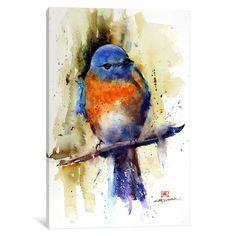 iCanvas 'Bird on the Sprig' by Dean Crouser Canvas Print