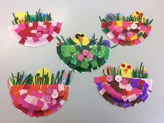 Brilliant Photo of Crafts With Paper For Adults Spring Crafts For Kids, Crafts For Kids To Make, Art For Kids, Easter Activities, Art Activities, Preschool Crafts, Easter Art, Paper Plate Crafts, Spring Art