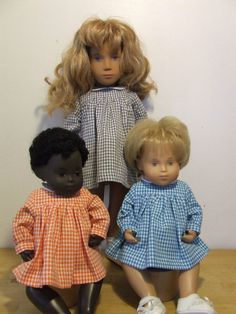 Gingham Long Sleeved Dress Outfit for Baby Sasha Doll by A Passion for Sasha
