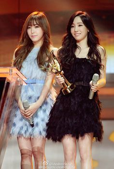 Tiffany and Taeyeon Sooyoung, Yoona, Snsd, Kpop Girl Groups, Korean Girl Groups, Kpop Girls, Celebrity Pictures, Celebrity Style, Kwon Yuri