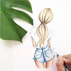 ▷ 1001 + images for girl drawing - ideas for developing your creativity People Drawing people drawings Boy And Girl Drawing, Girl Drawings, Girl Drawing Easy, Tumblr Girl Drawing, Teenage Girl Drawing, Cute Drawings Tumblr, Drawings Of Hair, Cartoon Drawings Of Girls, Drawings Of Dresses