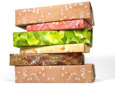 caixas sanduíche.