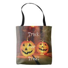 Orange Halloween Jack-O-Lanterns Tote Bag - photography gifts diy custom unique special