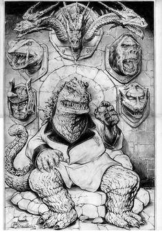 Godzilla by Steve Mannion
