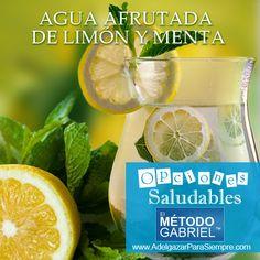 #ElMetodoGabriel #AdelgazarParaSiempre Infusiones Saludables: Agua Afrutada de Limón y Menta http://www.adelgazarparasiempre.com