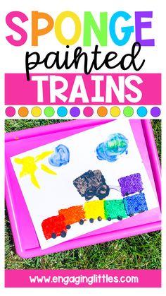 Preschool Transportation Crafts, Transportation Preschool Activities, Transportation Unit, Train Activities, Preschool Themes, Preschool Lessons, Preschool Learning, Preschool Crafts, Activities For Kids