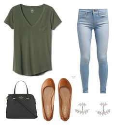 """""""School"""" by joleighpaigee ❤ liked on Polyvore featuring Gap, Levi's, Aéropostale, SonyaRenée and Kate Spade"""