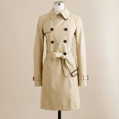 J.Crew Icon Trench Coat (18,615 PHP) ❤ liked on Polyvore featuring outerwear, coats, jackets, coats & jackets, jcrew, cotton coat, j.crew, trench coat, pink trench coat and j crew coat