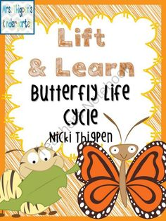 Lift & Learn Butterfly Life Cycle from MrsThigpensKindergarten on TeachersNotebook.com -  (9 pages)  - Create a flip book about the butterfly's life cycle.