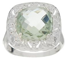 JMH Jewellery Sterling and Green Amethyst Ring