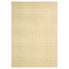 """A meditation on textural harmony is woven into the details of this wonderfully dimensional area rug. Gently undulating lines mimic the warp and weft of traditional hand-weaving. Elegantly conceived in tones of bone and taupe.  70% Wool 30% Viscose - Powerloomed  SIZES AVAILABLE: _________________________________  2'3"""" x 8'0""""…………………………….$459 3'6"""" x 5'6""""…………………………….$469 5'3"""" x 7'5""""…………………………….$939 7'9"""" x 10'10""""………………………….$2019 9'6"""" x 13'0""""…………………………...$2959"""