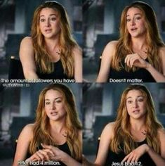 I find this really beautiful. It's so true, too. There really isn't many people like this anymore, but I'm so thankful that Shailene is. Shailene Woodley is such an inspiration to me and she's so amazing Great Quotes, Me Quotes, Funny Quotes, Inspirational Quotes, Funny Pics, Hilarious, Actor Quotes, Funny Stuff, Motivational
