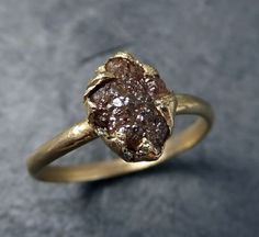 12 Raw Engagement Rings for the Non-Traditional Bride via Brit + Co