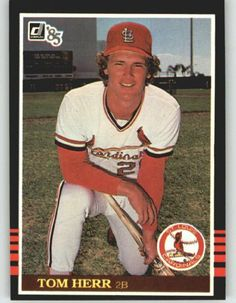 1985 Tommy Herr - St. Louis Cardinals (Baseball Cards)