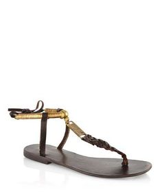 Brown+and+gold+leather+sandals+by+Park+Lane+on+secretsales.com