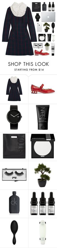 """""""New Year's Party"""" by pure-and-valuable ❤ liked on Polyvore featuring Miu Miu, Gucci, Alessi, NARS Cosmetics, 3.1 Phillip Lim, MAKE UP FOR EVER, Pop Beauty, Nearly Natural, Calvin Klein and Odacité"""