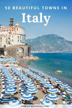 Italy travel inspiration - 50 beautiful towns in Italy to explore and add to your Italy trip itinerary. From the Amalfi Coast to Italian Alps and beautiful villages in Sicily, these beautiful destinations belong on your Italy itinerary #Italy #beautifulplaces #travel via @untoldmorsels