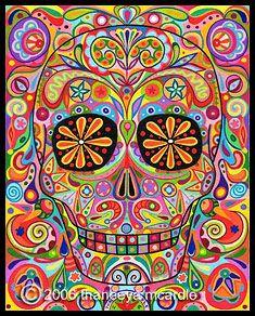 Day of the Dead Skull Art (the basics from start to finish)