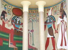 Painel egípcio... Edifício BC