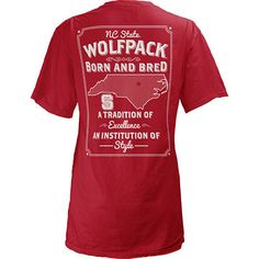 NC State Wolfpack Women's Born and Bred State T-Shirt