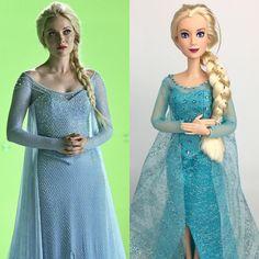 """2,438 kedvelés, 34 hozzászólás – Mario (@mmdisney200) Instagram-hozzászólása: """"Here is my Ooak Elsa doll from Once upon a time. I wanted Elsa to look like she was made by Barbie…"""""""