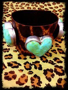 Sookie Sookie {The Heart} Leopard Leather Cuff, $62.00 www.DustyDiamondsBoutique.com Huntsville, Texas ONLY $3.00 Shipping!